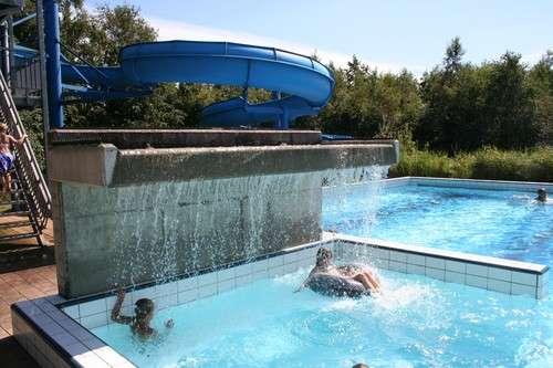 Waterpret in het zwembad