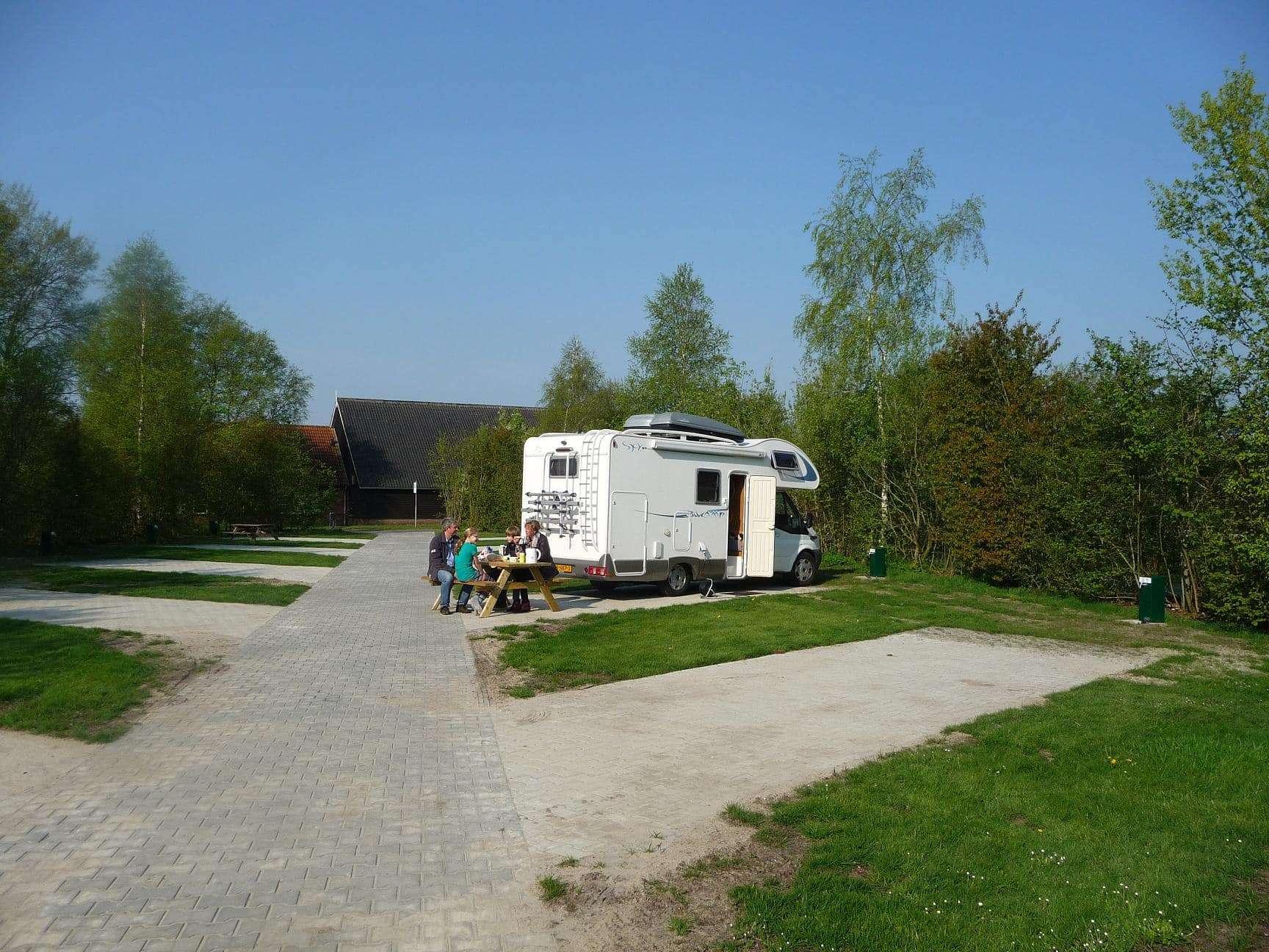 Camperplaats op camping